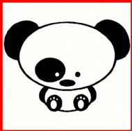 JDM DRIFT PANDA BABY DECAL